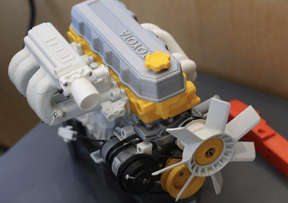 3d baskı toyota motor prototipi